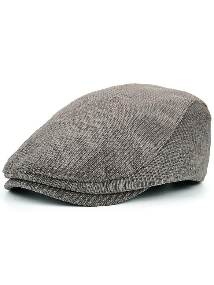 Multipurpose Striped Pattern Embellished Adjustable Duckbill HatACCESSORIES<br><br>Color: GRAY; Hat Type: Newsboy Caps; Group: Adult; Gender: For Men; Style: Fashion; Pattern Type: Striped; Material: Polyester; Circumference (CM): 56-58CM; Weight: 0.1000kg; Package Contents: 1 x Hat;