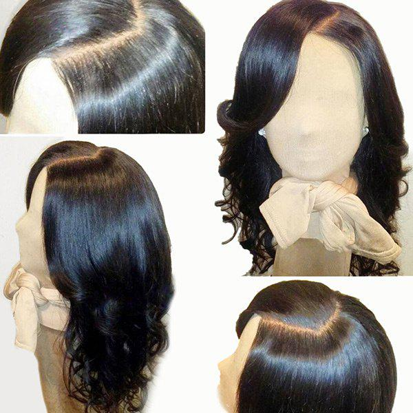 Medium Side Parting Loose Wave Human Hair Lace Front WigHAIR<br><br>Color: NATURAL BLACK; Type: Full Wigs; Cap Construction: Lace Front; Style: Wavy; Lace Material: Swiss Lace; Cap Size: Average; Material: Human Hair; Bang Type: Side; Length: Medium; Lace Wigs Type: Lace Front Wigs; Occasion: Daily; Density: 130%; Length Size(Inch): 16; Weight: 0.1750kg; Package Contents: 1 x Wig;