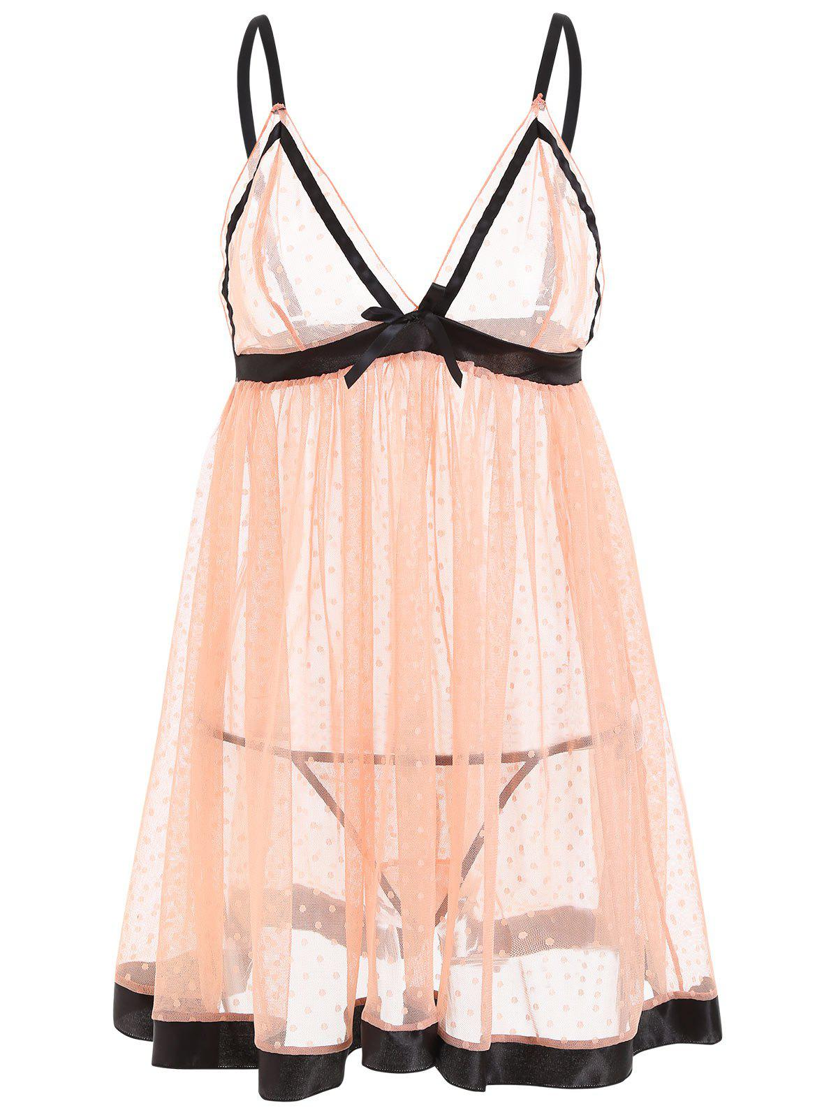 Unique See Through Mesh Cami Babydoll