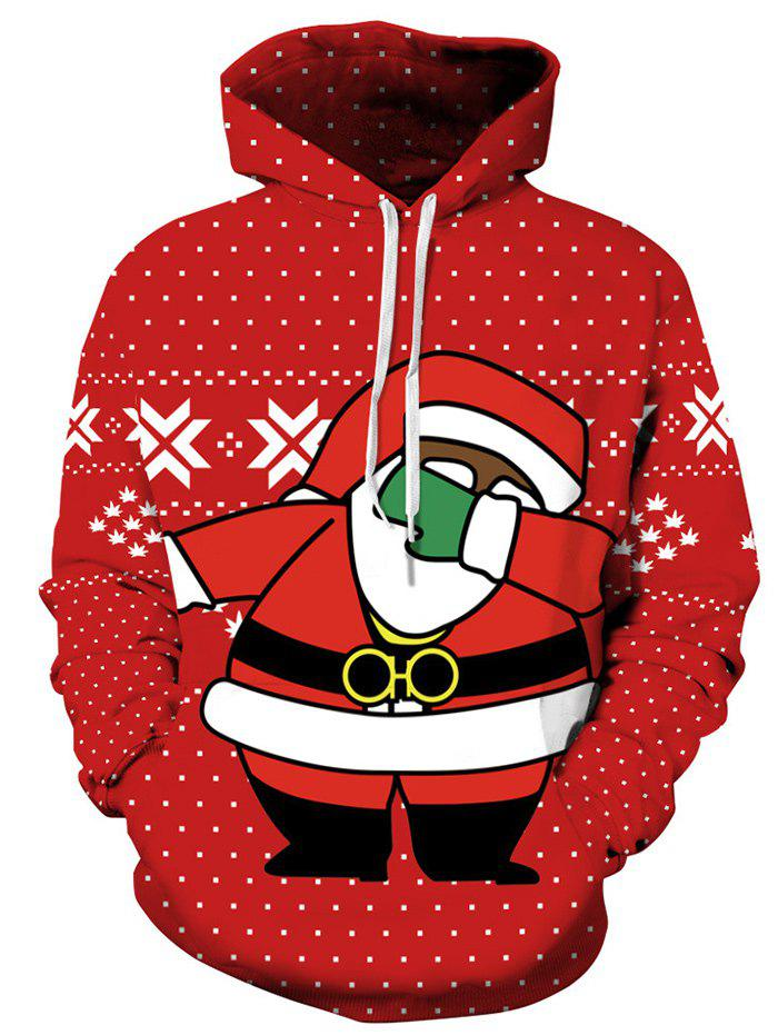 Christmas Santa Claus Polka Dot HoodieWOMEN<br><br>Size: L; Color: RED; Material: Polyester; Shirt Length: Regular; Sleeve Length: Full; Style: Fashion; Pattern Style: Polka Dot; Season: Fall,Winter; Weight: 0.4000kg; Package Contents: 1 x Hoodie;