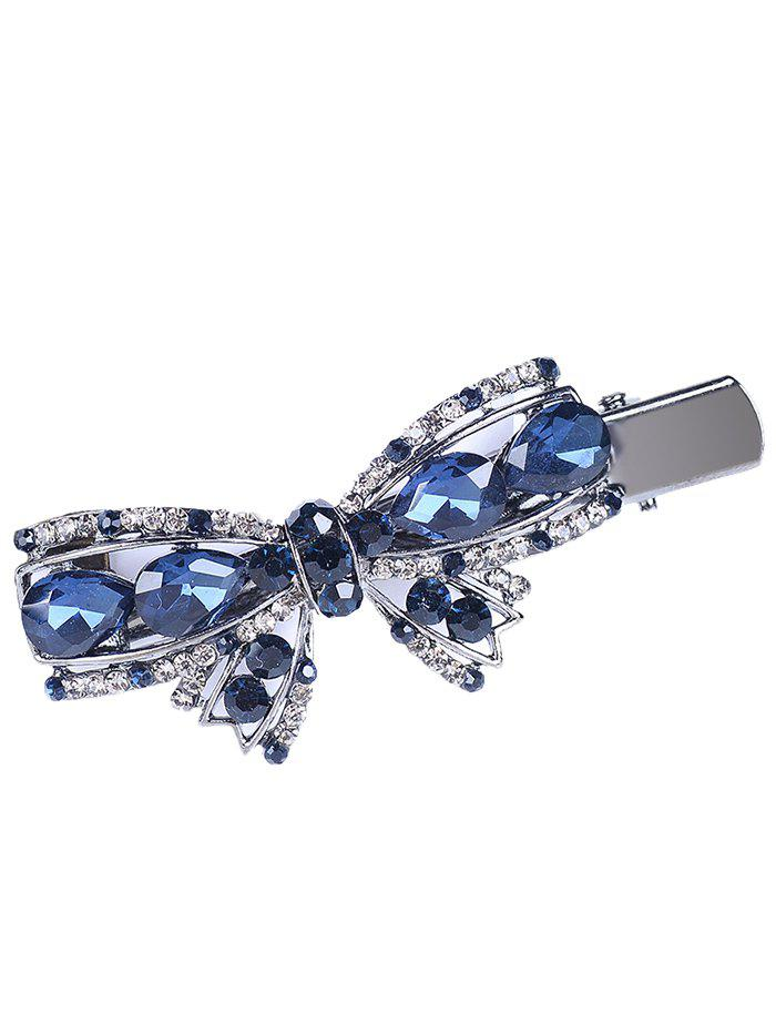 Outfit Vintage Bowknot Shape Rhinestone Faux Gem Hairpin
