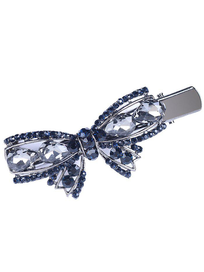 Vintage Bowknot Shape Rhinestone Faux Gem HairpinACCESSORIES<br><br>Color: GRAY; Headwear Type: Hairpins; Group: Adult; Gender: For Women; Style: Fashion; Pattern Type: Bowknot; Weight: 0.0200kg; Package Contents: 1 x Hairclip;