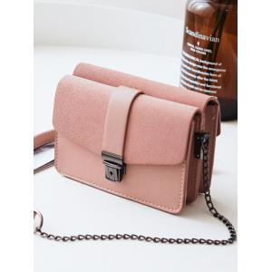 Double Side Chain Faux Leather Crossbody Bag -