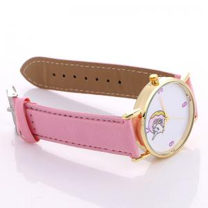 Faux Leather Strap Unicorn Number Watch -