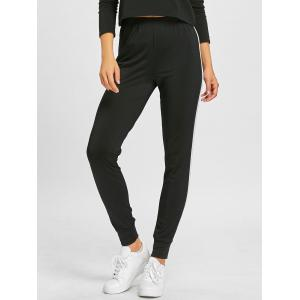 Workout Track Double Striped Tapered Pants -