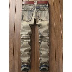 Zip Fly Straight Leg Vintage Jeans motard -