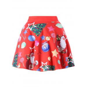 Christmas Plus Size Santa Claus Vintage Skirt -