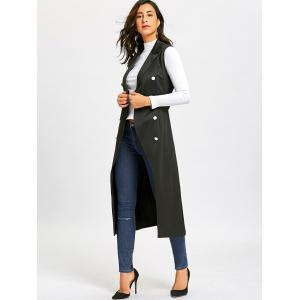 Gilet long à double boutonnage -