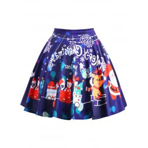 Christmas Plus Size Swing Skirt -