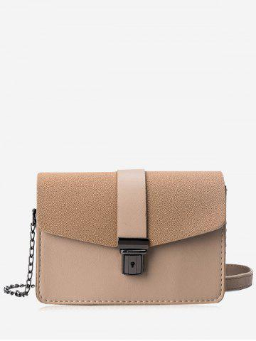 Affordable Double Side Chain Faux Leather Crossbody Bag
