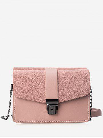 Sale Double Side Chain Faux Leather Crossbody Bag