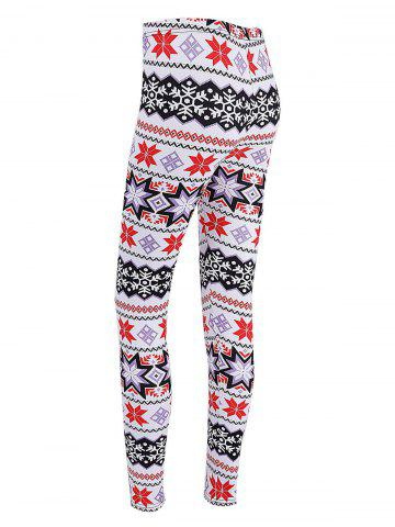 Sale Christmas Snowflake Print High Waisted Leggings