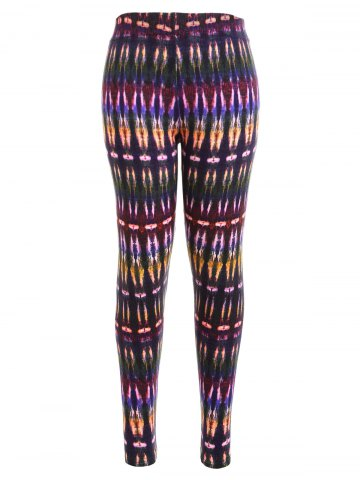 Store Multicolor Bamboo Print High Waist Workout Leggings