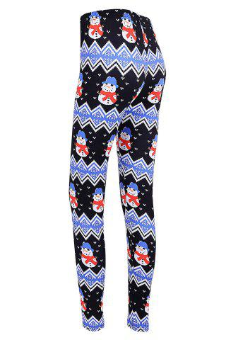 Latest Snowman Print Christmas High Waisted Leggings
