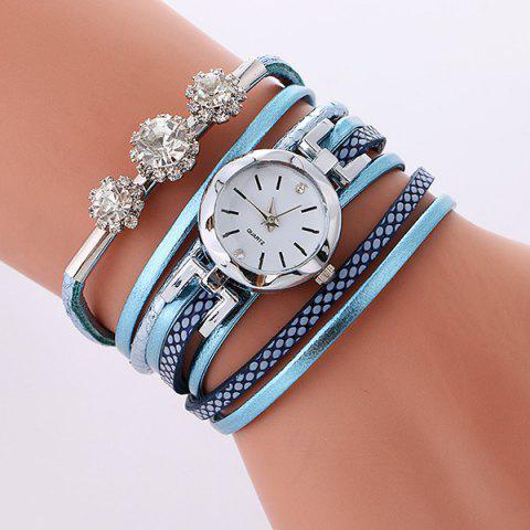 Outfit Rhinestone Wrap Bracelet Quartz Watch