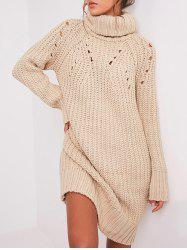 Ripped Turtle Neck Sweater Dress -