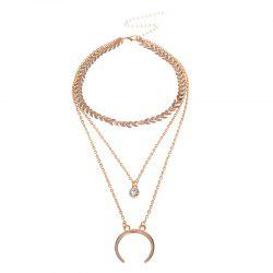 Decorated C Shape Multi-layer Necklace -