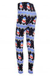 Snowman Print Christmas High Waisted Leggings -