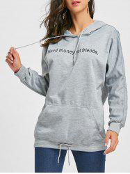 Front Pocket Tunic Graphic Hoodie -