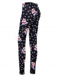 Noël Snowflake Santa Leggings Skinny Leggings -