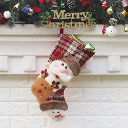 Santa Claus Elk Snowman Patterned Christmas Candy Sock -