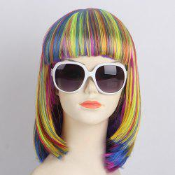 Short Full Bang Straight Bob Synthetic Lolita Wig -