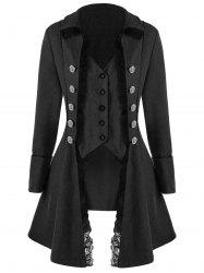Button Up Lace Trim Tailcoat -