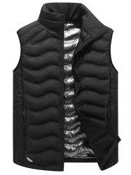 Full Zip Stand Collar Padded Vest -