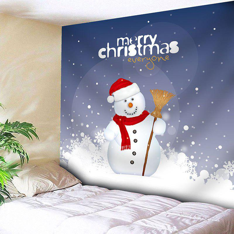 Wall Decor Christmas Snowman Pattern TapestryHOME<br><br>Size: W91 INCH * L71 INCH; Color: COLORMIX; Style: Festival; Theme: Christmas; Material: Nylon,Polyester; Feature: Removable,Washable; Shape/Pattern: Letter,Snowman; Weight: 0.3750kg; Package Contents: 1 x Tapestry;