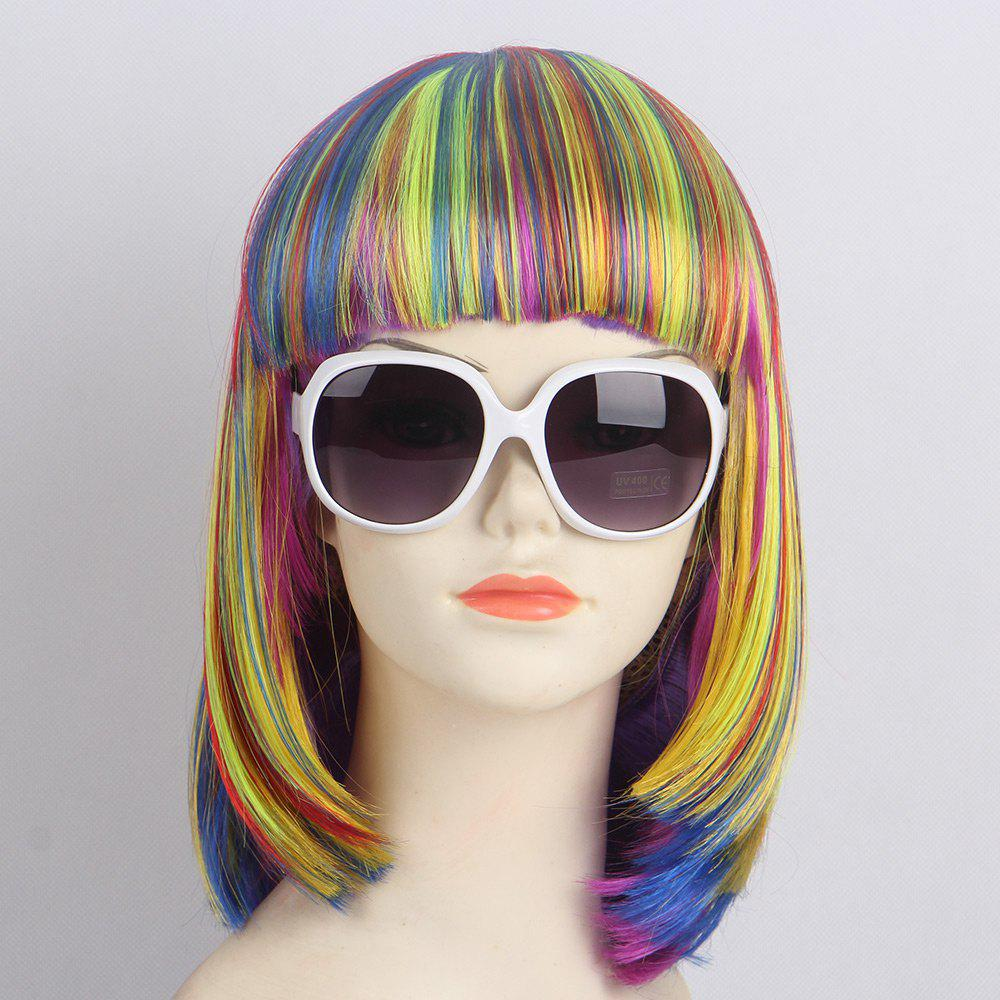 Best Short Full Bang Straight Bob Synthetic Lolita Wig