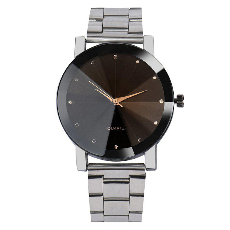 Metallic Strap Rhinestone Analog WatchJEWELRY<br><br>Color: SILVER; Gender: For Men; Style: Fashion; Type: Quartz watch; Index Dial: Analog; Case material: Alloy; Band material: Alloys; Movement: Quartz; Dial Shape: Round; Water-Proof: No; Case Thickness(MM): 8mm; Dial Diameter: 4cm; Band Length(CM): 20cm; Band Width(CM): 2cm; Package Contents: 1 x Watch;