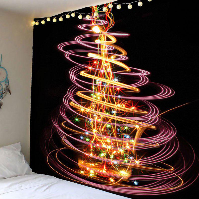 fashion waterproof cool christmas lighting tree printed wall tapestry