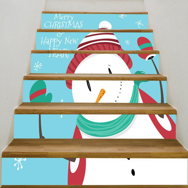 Snowman Pattern Decorative Stair StickersHOME<br><br>Size: 6PCS:39*7 INCH( NO FRAME ); Color: COLORMIX; Wall Sticker Type: Plane Wall Stickers; Functions: Stair Stickers; Theme: Christmas; Pattern Type: Snowman; Material: PVC; Feature: Removable; Weight: 0.3100kg; Package Contents: 1 x Stair Stickers (Set);