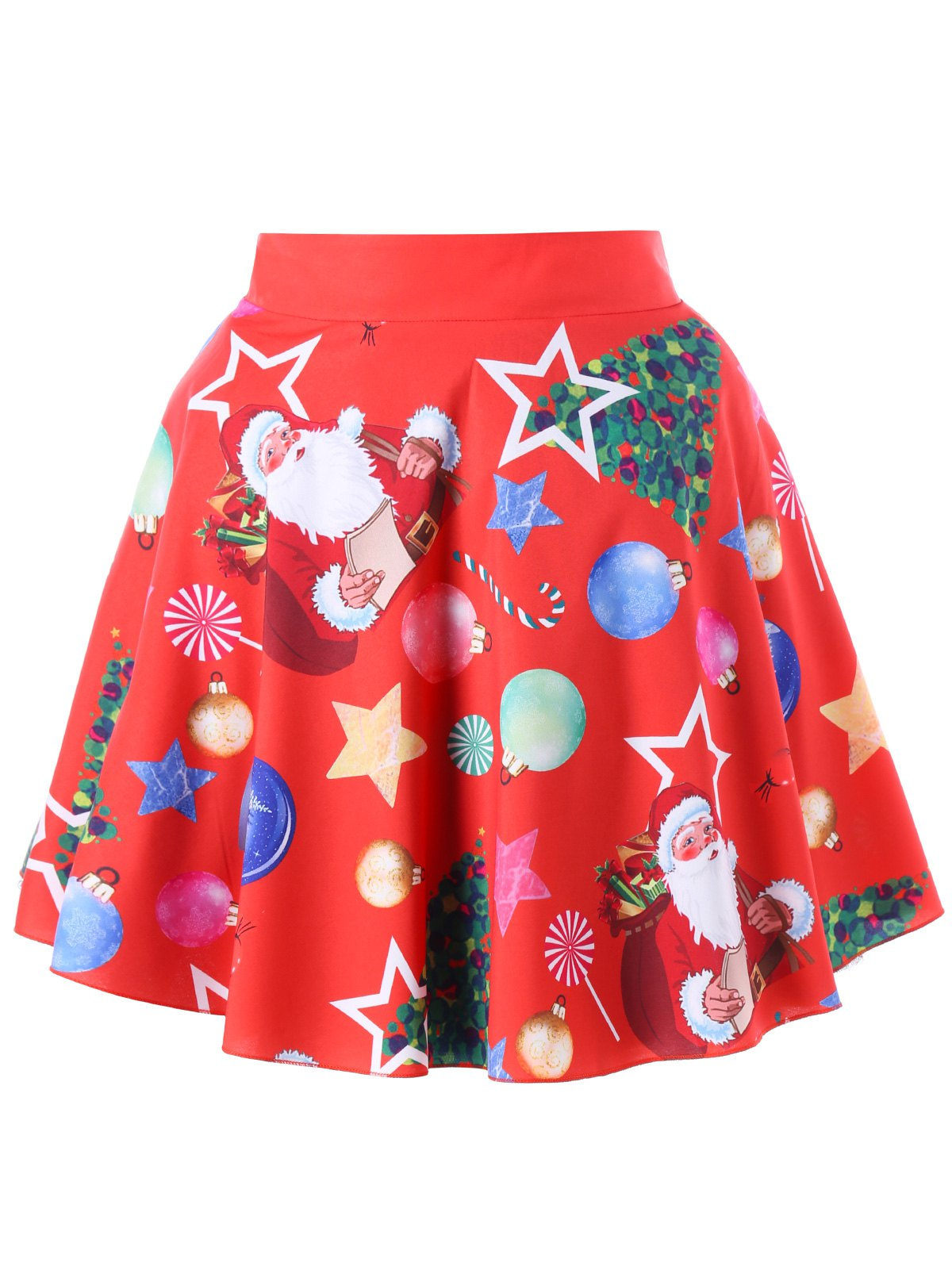 Sale Christmas Plus Size Santa Claus Vintage Skirt