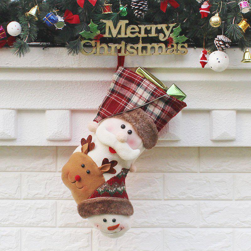 Chic Santa Claus Elk Snowman Patterned Christmas Candy Sock