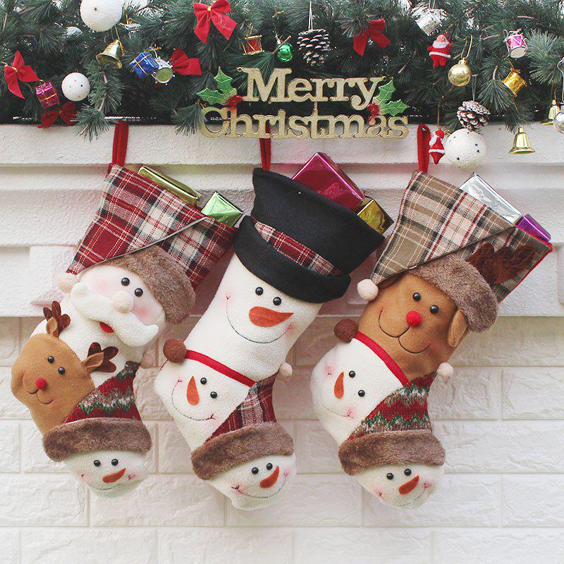Santa Claus Elk Snowmen 3Pcs Christmas Decor Gift SocksHOME<br><br>Color: COLORMIX; Event &amp; Party Item Type: Other; Occasion: Christmas; Weight: 0.1600kg; Package Contents: 3 x Christmas Socks (Pcs);