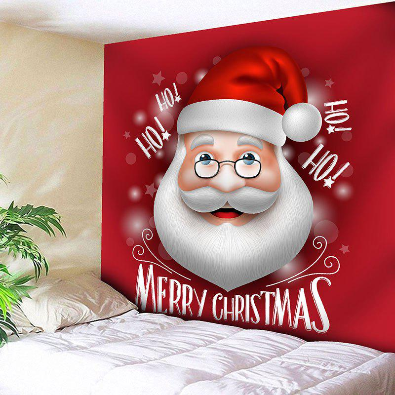 Christmas Wall Hanging Santa Claus Printed TapestryHOME<br><br>Size: W91 INCH * L71 INCH; Color: RED; Style: Festival; Theme: Christmas; Material: Nylon,Polyester; Feature: Removable,Washable; Shape/Pattern: Letter,Santa Claus; Weight: 0.3750kg; Package Contents: 1 x Tapestry;