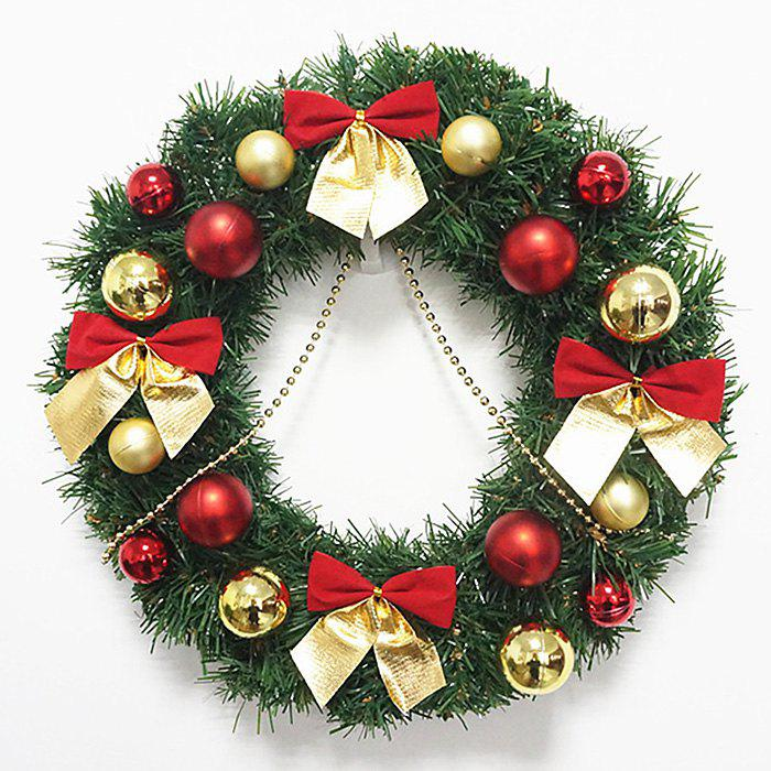 Outfit Bowknot Balls Christmas Wreath