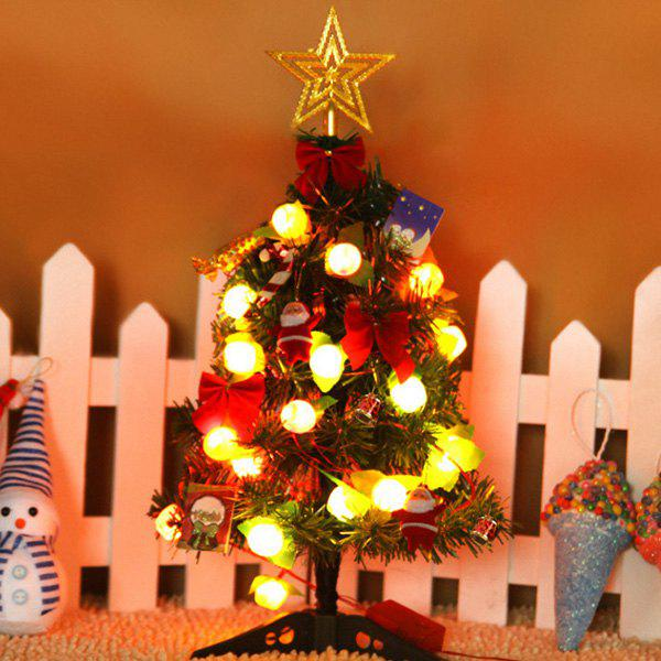 Mini Artificial Christmas Tree with LED LightsHOME<br><br>Color: COLORMIX; Event &amp; Party Item Type: Party Decoration; Occasion: Christmas; Material: Plastic; Weight: 5.4684kg; Package Contents: 1 x Artificial Christmas Tree;