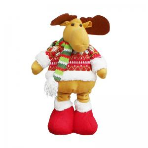 Retractable Elk Patterned Christmas Doll -