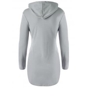 Stylish Hooded Long Sleeve Solid Color Pocket Design T-Shirt For Women -
