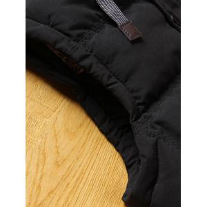 Detachable Hood Clock Block Puffer Vest -