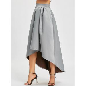 High Low Elastic Waist Maxi Skirt -
