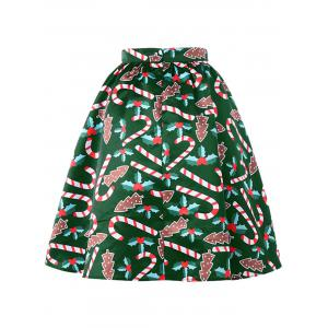 Christmas Graphic Flare Skirt -