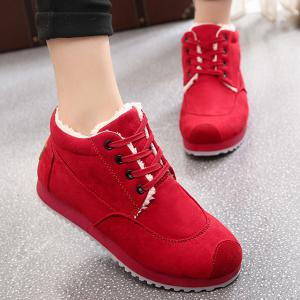 Increased Internal Faux Fur Lining Sneakers -