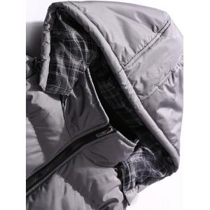 Detachable Hood Padded Vest with Zipper Pocket -