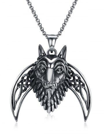 New Lion Carving Decorative Stainless Steel Biker Necklace
