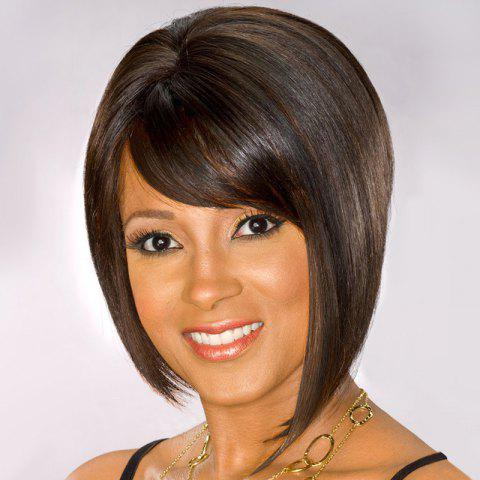 New Short Inclined Bang Straight Bob Synthetic Wig