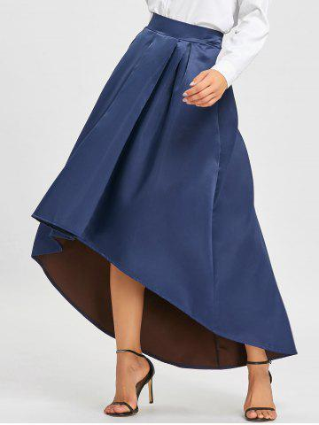 Outfits High Low Elastic Waist Maxi Skirt