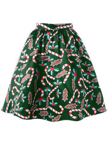 Sale Christmas Graphic Flare Skirt